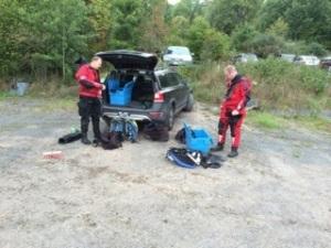 Dykare förberedelser Sept14