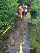 Fiber nedgräven
